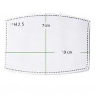 Aktivkohle-Filter für Community-Masken - PM 2,5 - 110 x 70 mm - 10er Pack